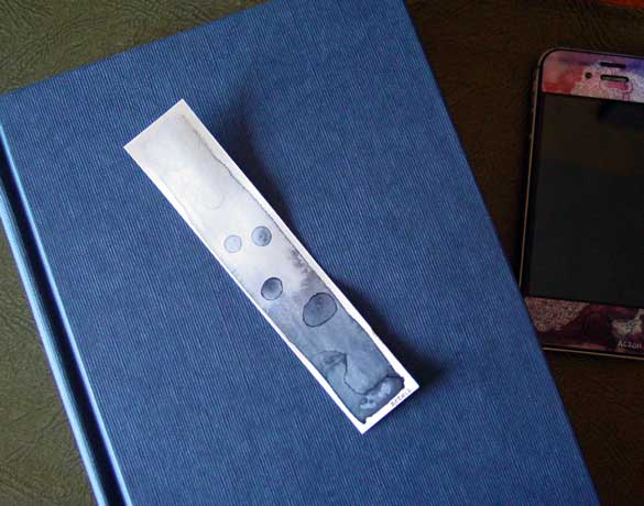 Bubbling Bookmark, with book, by Amy Crook