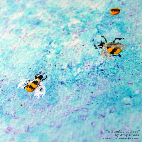 A Bumble of Bees, detail, by Amy Crook