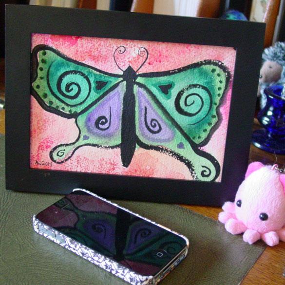 Butterfly, framed art by Amy Crook