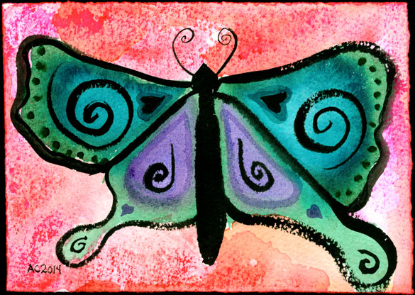 Butterfly, watercolor by Amy Crook