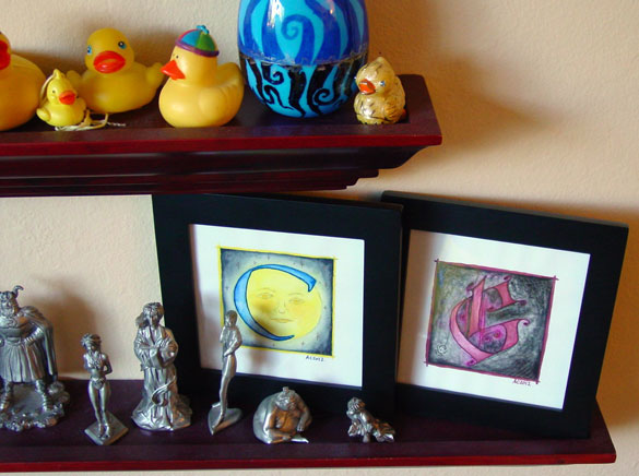 G is for Gothic & C is for Counter, framed art by Amy Crook