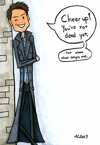 Not Dead Yet, Captain Jack Harkness fan art by Amy Crook