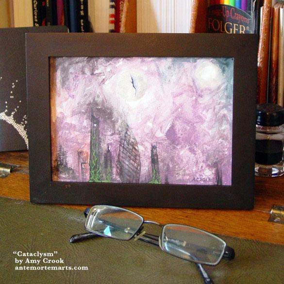 Cataclysm, framed art by Amy Crook
