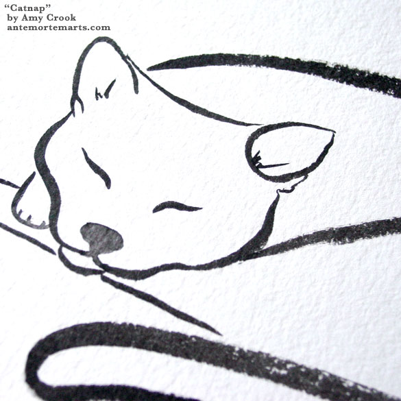 Catnap, detail, by Amy Crook