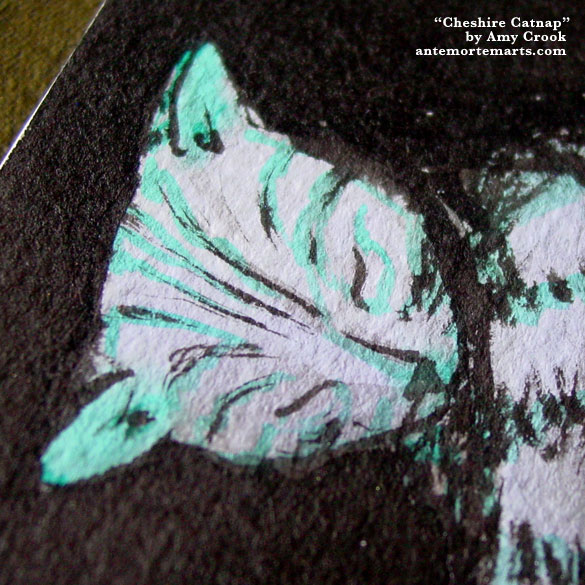 Cheshire Catnap, detail, by Amy Crook