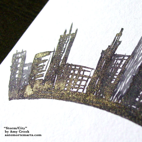 Storm/City, detail, by Amy Crook