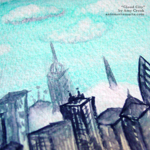Cloud City, detail, by Amy Crook