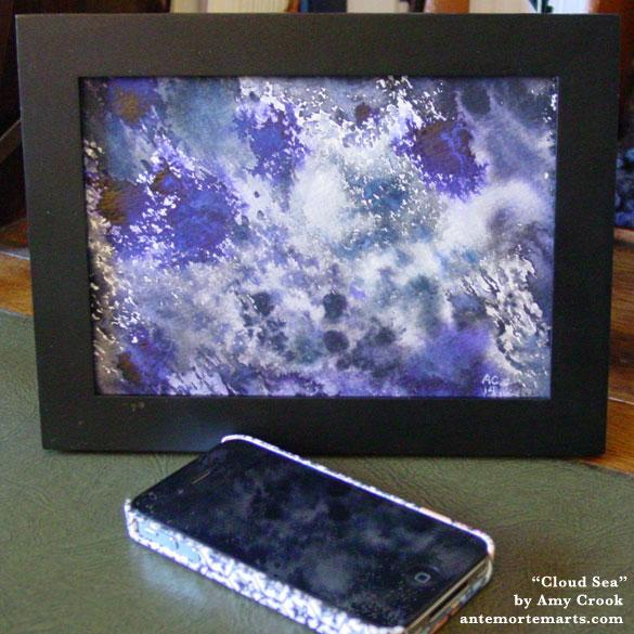 Cloud Sea, framed art by Amy Crook