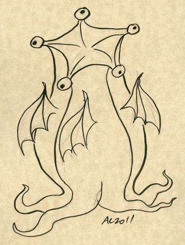 Elder Thing sketch by Amy Crook