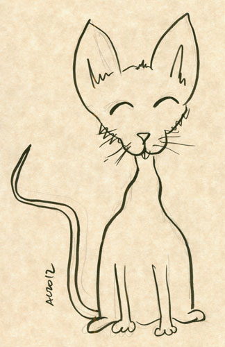 Ridiculous Cat sketch by Amy Crook