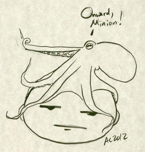 Onward, Minion! sketch by Amy Crook