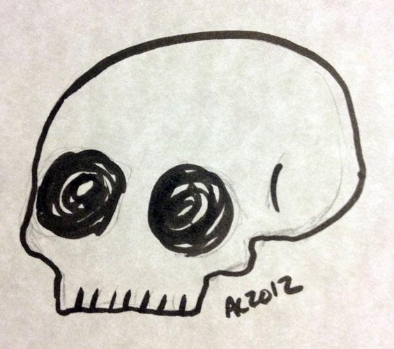 Skully sketch by Amy Crook