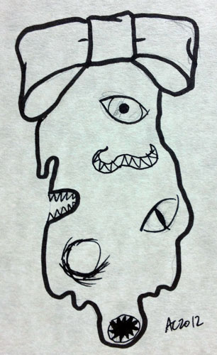 Shoggie Ornament sketch by Amy Crook