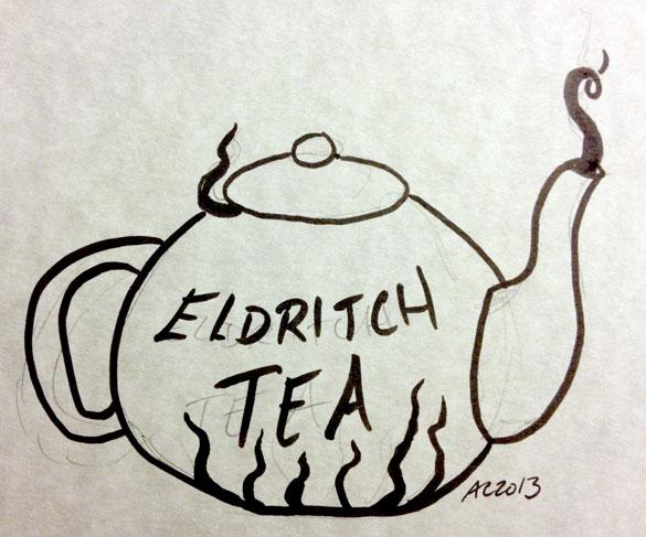 Eldritch Tea sketch by Amy Crook