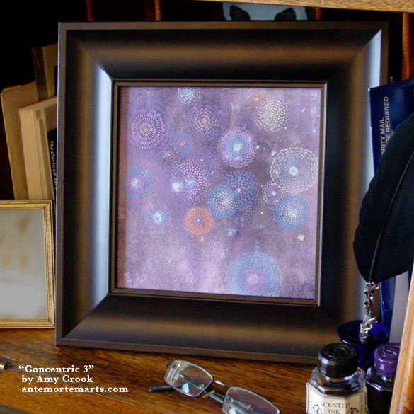 Concentric 3, framed art by Amy Crook