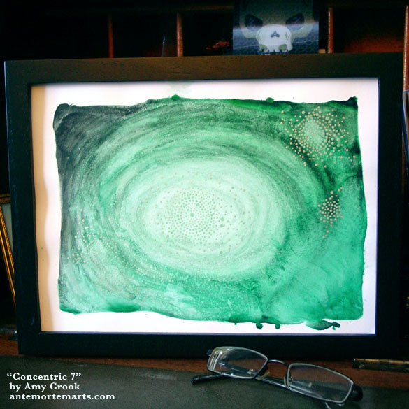 Concentric 7, framed art by Amy Crook