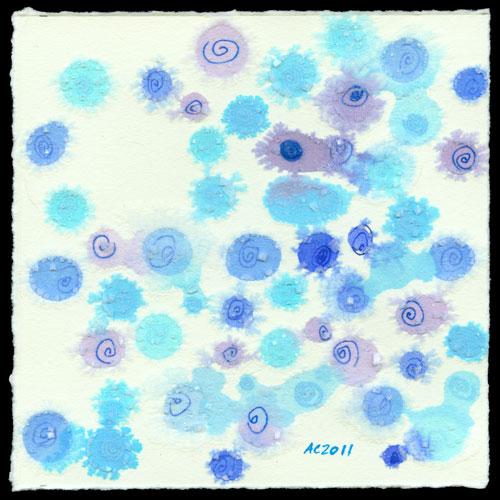 Confetti Rain, abstract art by Amy Crook