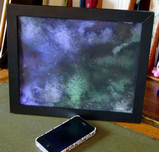 Convergence, framed art by Amy Crook