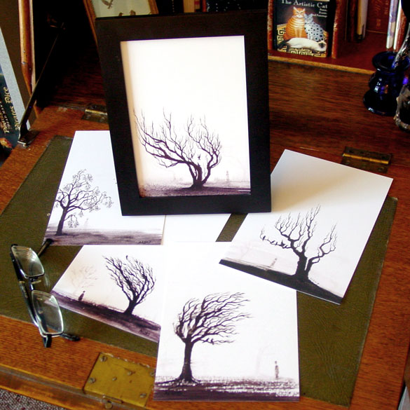 Counting Crows 5x7 print set by Amy Crook on Etsy