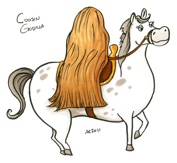 Cousin Godiva, cartoon by Amy Crook