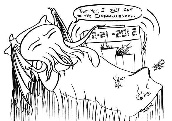 Cthulhu Snooze comic by Amy Crook