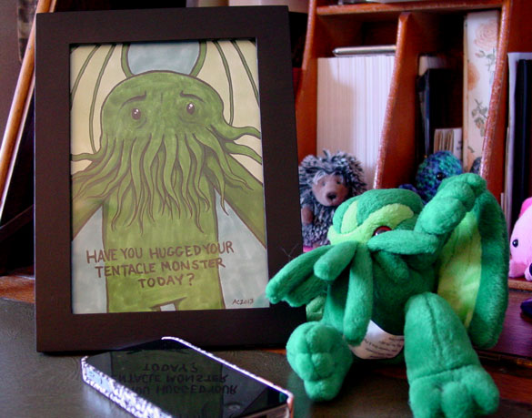Have You Hugged Your Tentacle Monster Today? framed art by Amy Crook