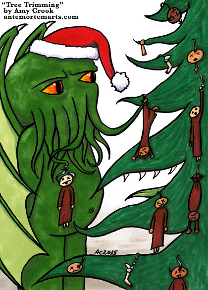 Tree Trimming, a Cthulhu comic by Amy Crook