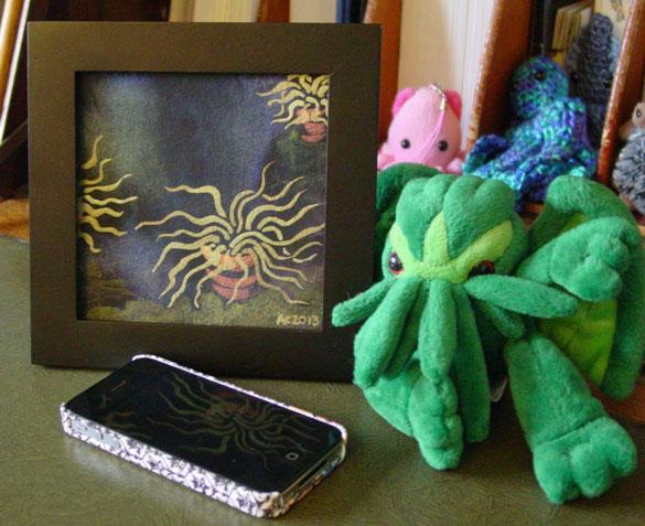 Houseplants of Cthulhu, framed art by Amy Crook