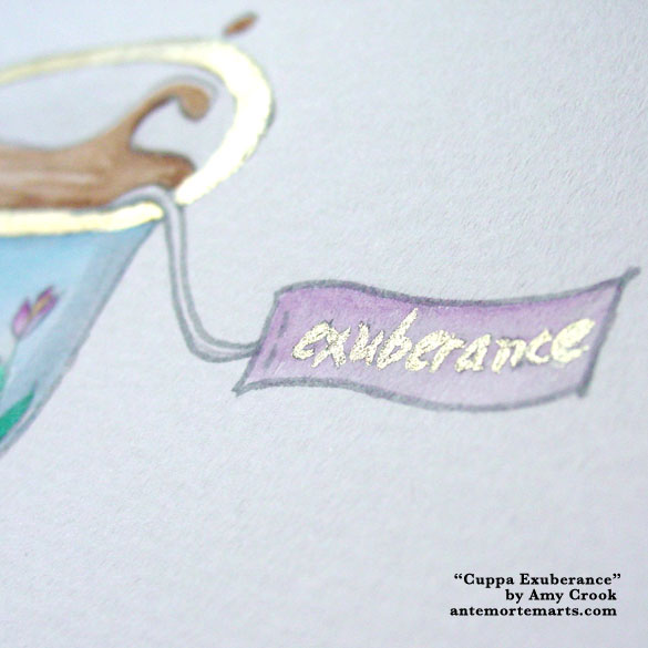 Cuppa Exuberance, detail, by Amy Crook