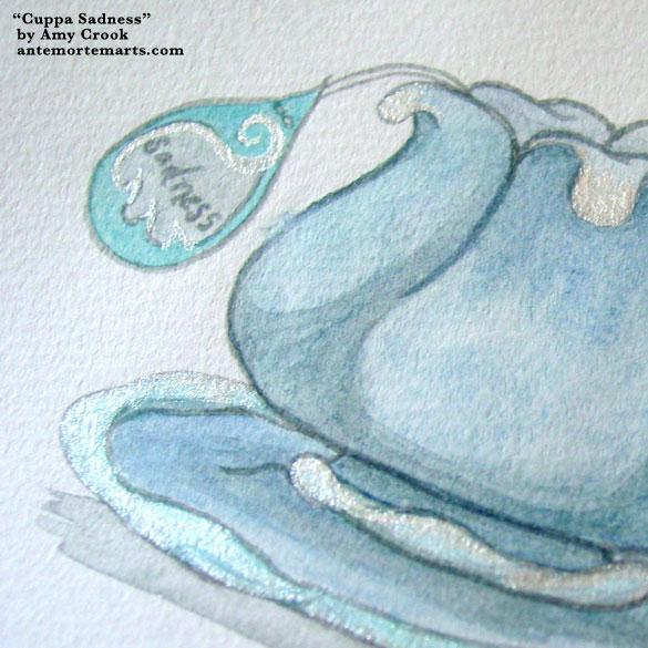 Cuppa Sadness, detail, by Amy Crook
