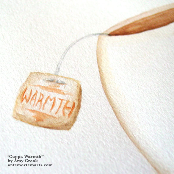 Cuppa Warmth, detail, by Amy Crook