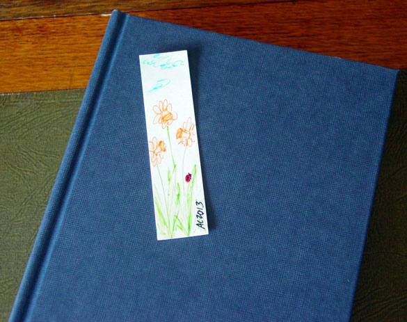 Daffodils Bookmark, with book, by Amy Crook