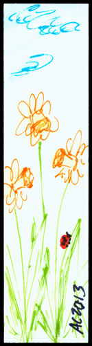 Daffodils Bookmark by Amy Crook