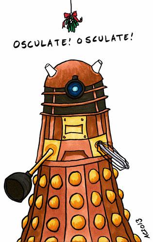 Osculate! Doctor Who fan art by Amy Crook