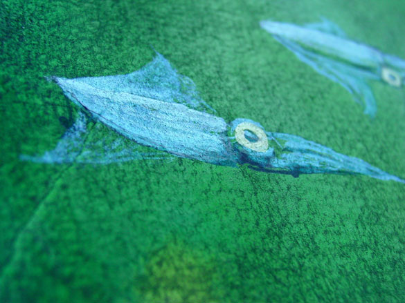 A Trio of Dancing Squid, detail, by Amy Crook