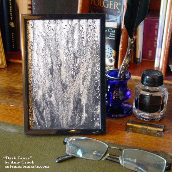 Dark Grove, framed art by Amy Crook