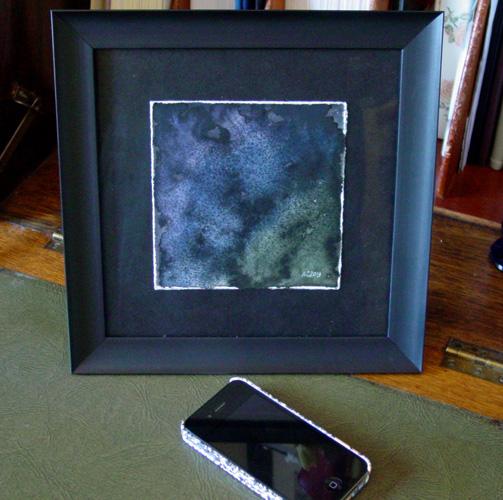 Dark Matter, framed art by Amy Crook