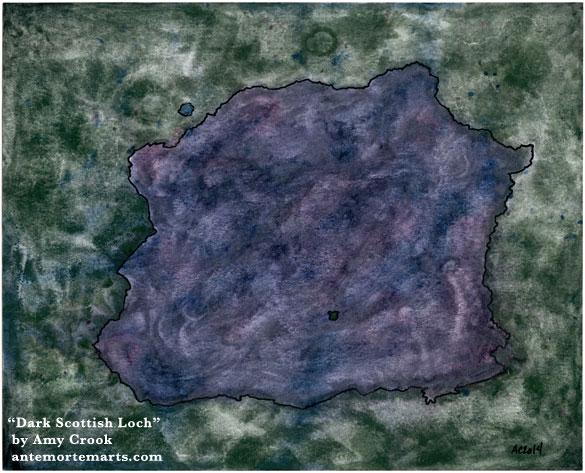 Dark Scottish Loch by Amy Crook