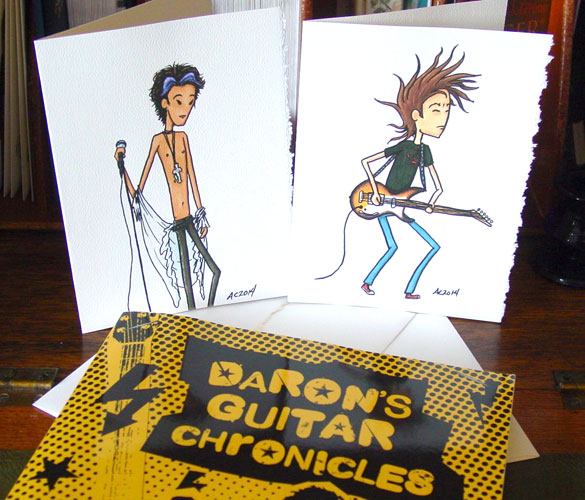 Daron and Ziggy greeting cards by Amy Crook on Etsy