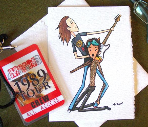 Daron & Ziggy, a rock star Valentine by Amy Crook on Etsy