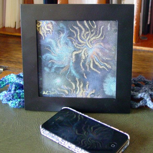 Deepest R'lyeh, framed art by Amy Crook