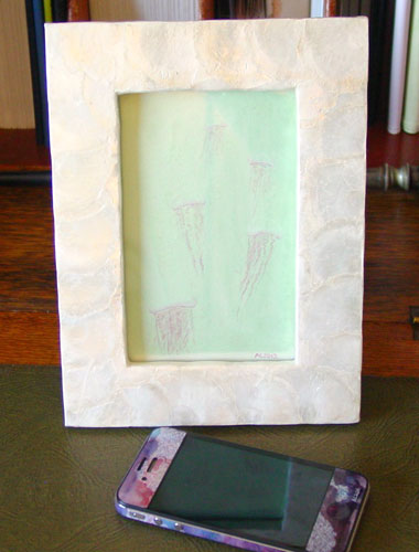 Delicate Jellyfish, framed art by Amy Crook