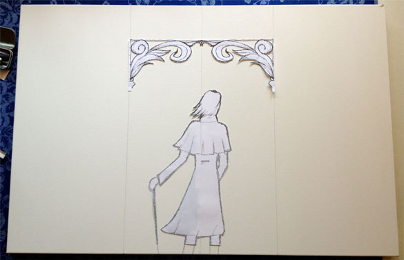 Denouement commission, transferring to the canvas