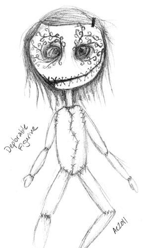 Deplorable Figurine, sketch by Amy Crook