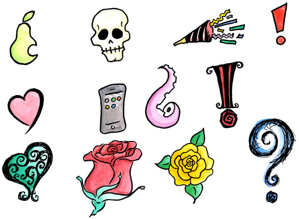 Free color dingbats by Amy Crook