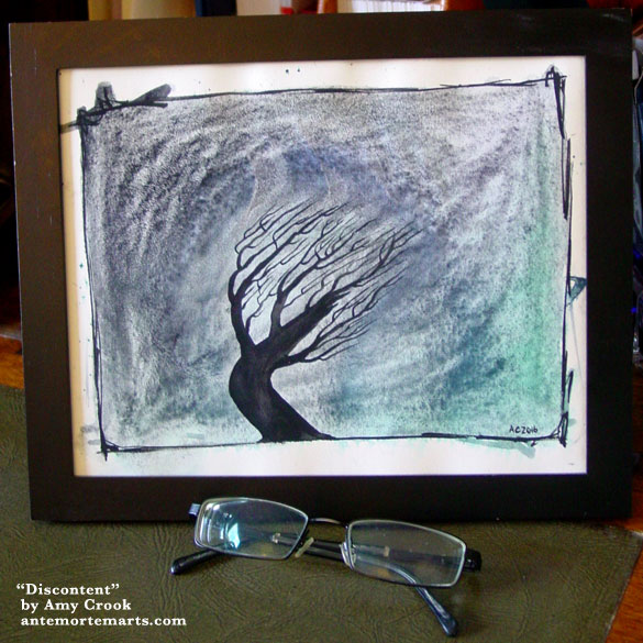 Discontent, framed art by Amy Crook