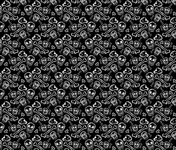 Ditzy Bones fabric print by Amy Crook