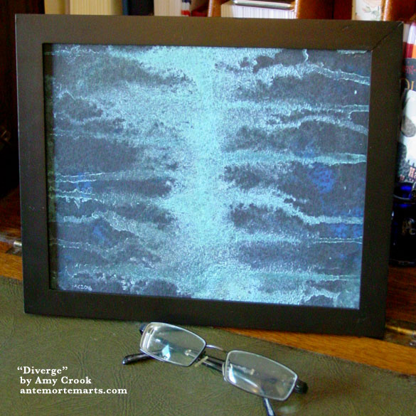 Diverge, framed art by Amy Crook
