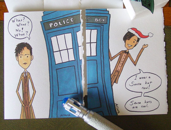 Doctor Who cards by Amy Crook on Etsy