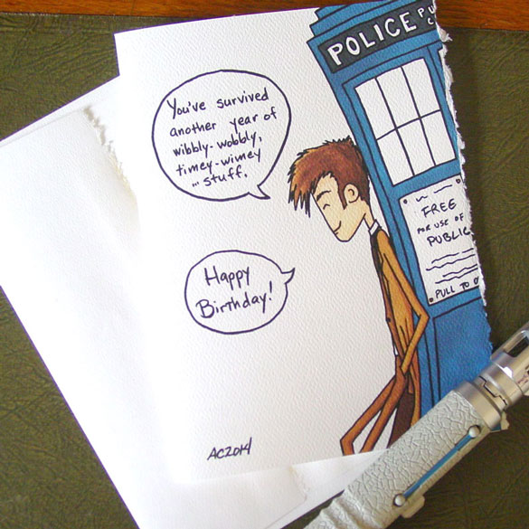 Doctor Who birthday card by Amy Crook on Etsy